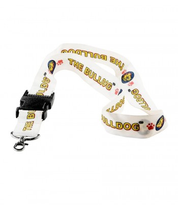 The Bulldog Lanyard White