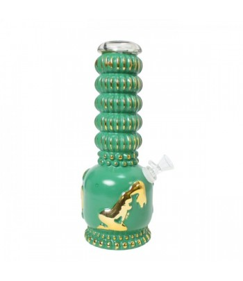 Stripper Heavy Bong - Vintage Green/Gold - 27cm