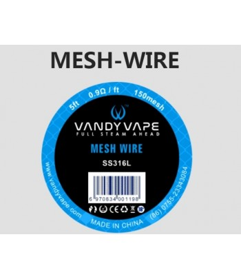 Vandyvape SS316L Mesh Wire 5ft 0.9Ω/ft 150mesh