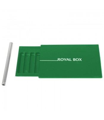 Royal Box with Steel Pipe - Green