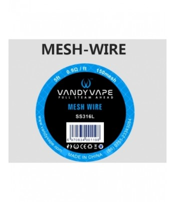 VANDYVAPE SS316L MESH WIRE 5FT 0,9OHM/FT 150 MESH