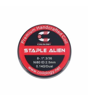 Coilology Staple Alien Wire Ni80 0.14Ω/Dual 2PCS/Pack