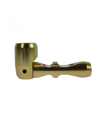 Hammer - Aluminium Pipe with Glass Center - 10cm - Gold