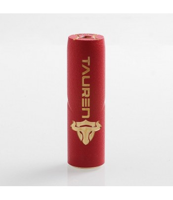 Thc Tauren Mech Mod Brass Cracked Red/Black