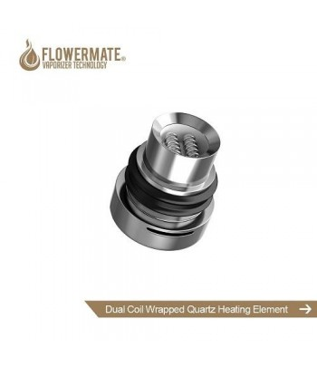 Flowermate Dual coil wrapped quartz heating element